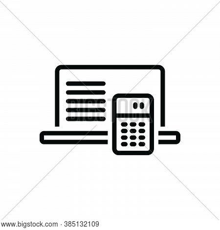 Black Line Icon For Interpretation Explanation Elucidation Definition Clarification Meaning