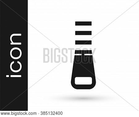 Grey Zipper Icon Isolated On White Background. Vector Illustration
