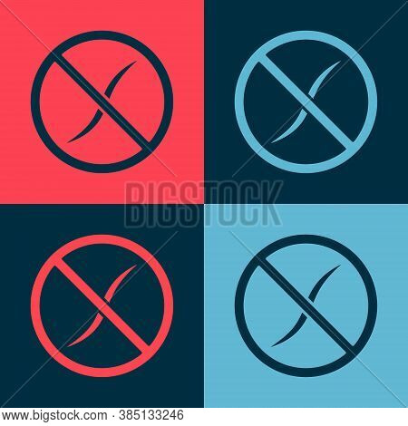 Pop Art Anti Worms Parasite Icon Isolated On Color Background. Vector