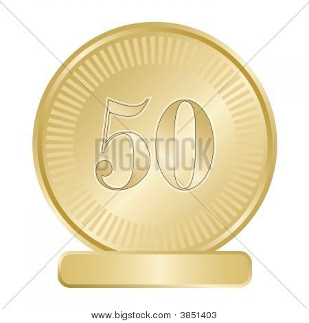 Golden Fifty Medallion