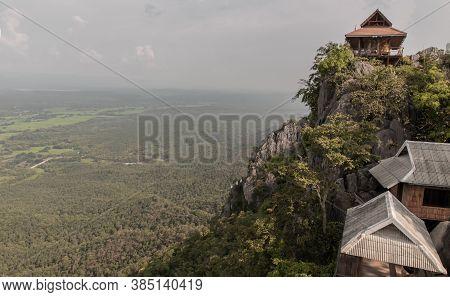 Pagoda On Top Of The Cliff High Mountain At Chaloem Phrakiat Phrachomklao Rachanuson Temple (wat Phr