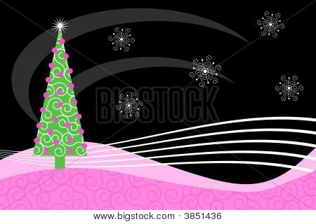 Pink Retro Christmas