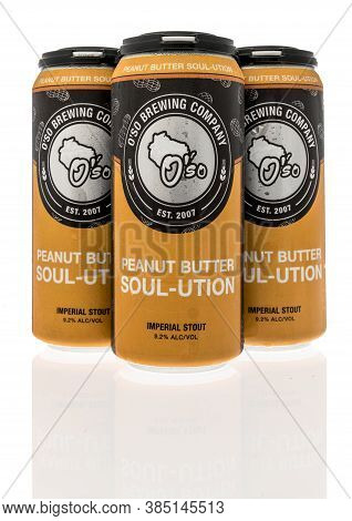 Winneconne , Wi - 12 September 2020:  A Four Pack Of Peanut Butter Soul-ution Imperial Stout Beer By