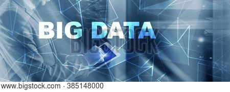 Inscription Big Data On Blurred Provider Room. Information Technology 2021. Engineers In The Server