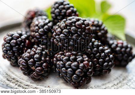 Ripe Healthy Antioxidant Black Currant Or Bramble Berries