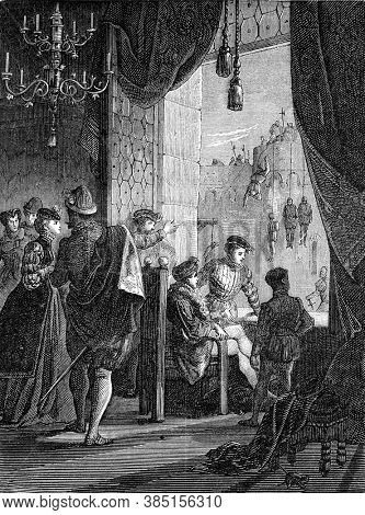 The Amboise conspiracy, Vintage engraving. From Popular France, 1869.