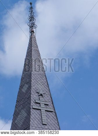 Church Steeple above New Orleans main square