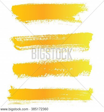 Vector Paint Brushstrokes, Watercolor Texture, Isolated On A White Background, A Design Element To H