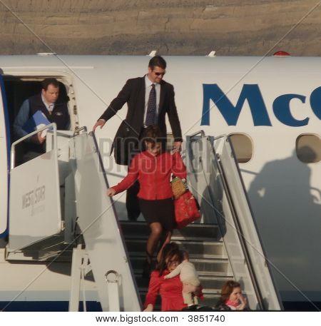 Sara Palin Disembarking
