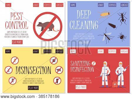 A Set Of Web Pages For The Insect, Pest And Rodent Control Service