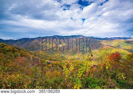Great Smoky Mountains National Park, Tennessee, USA in autumn.