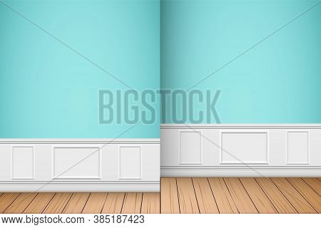 Interior Of Luxury Apartments With Two Rooms. Modern Concept Of Cozy Home. Vector Illustration.