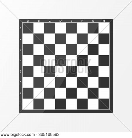 Black And White Checkerboard Color Background Texture. Chess Table Texture. Vector