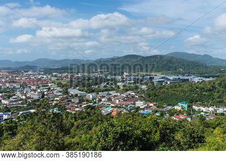 Phuket, Thailand - November 29, 2019: High View From The Top Of Rang Hill Viewpoint In Phuket Island
