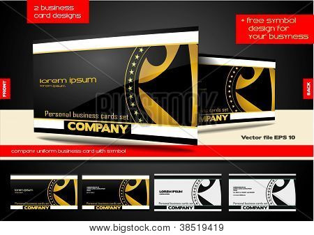 Company Business Card With Symbol