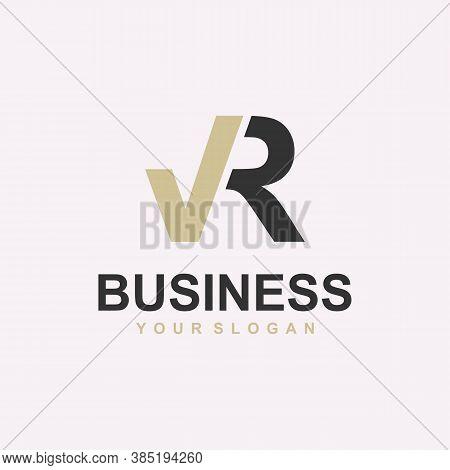 V R Logo Template Design Vector Icon Illustration