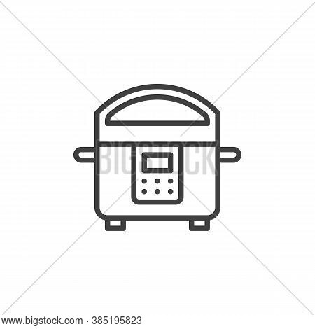 Cooking Steamer Line Icon. Linear Style Sign For Mobile Concept And Web Design. Electric Steamer Out