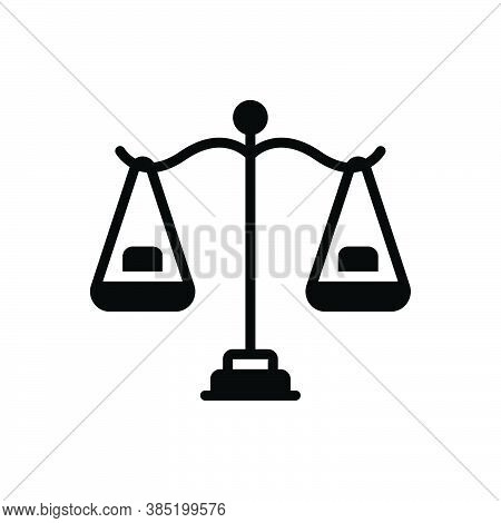 Black Solid Icon For Reasonable Scales Balance Equilibrium Equilibration Poise Comparison