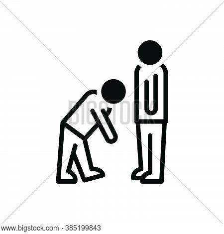 Black Solid Icon For Virtue Good-behavior Respect Regard Honor Manner