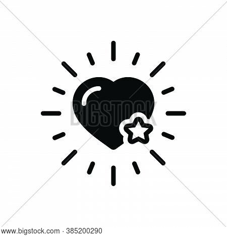 Black Solid Icon For Favorite Most-liked Dearest Like Preferred Heart Chosen Choice Ideal