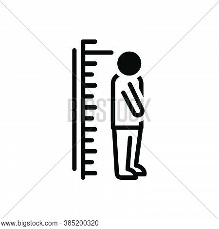Black Solid Icon For Height Tall Big Distance Growth Length Long Measure Measurement Figure