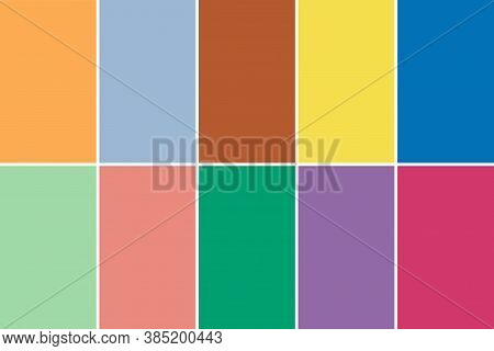 Set Of 10 Fashionable Colors Of Fashion Week For Spring-summer 2021.