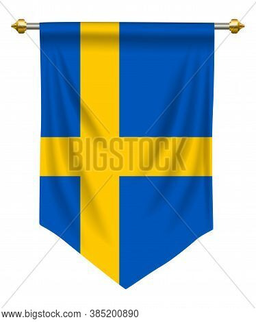 Sweden Flag Or Pennant Isolated On White