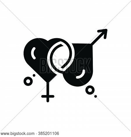 Black Solid Icon For Married Marital Gender Relationship Sexual Wed Get-married Marry Pair-off