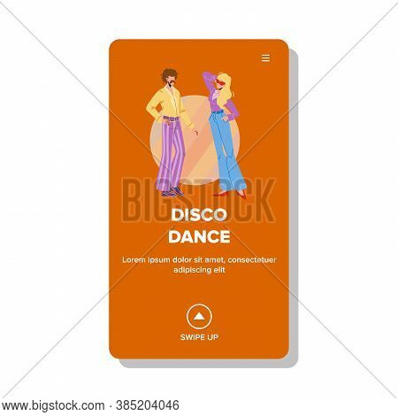 Disco Dance Retro Style Party In Nightclub Vector