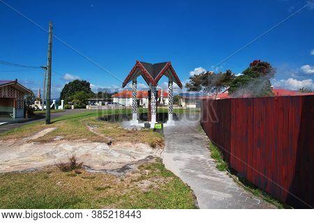 House Maori In Rotorua, New Zealand
