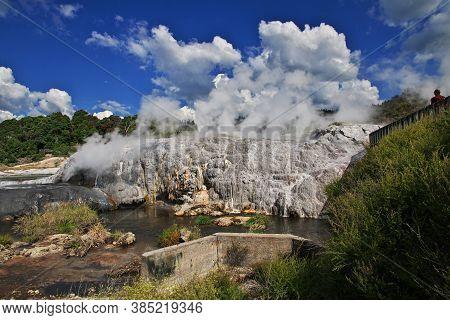 Thermal Park In Rotorua, New Zealand
