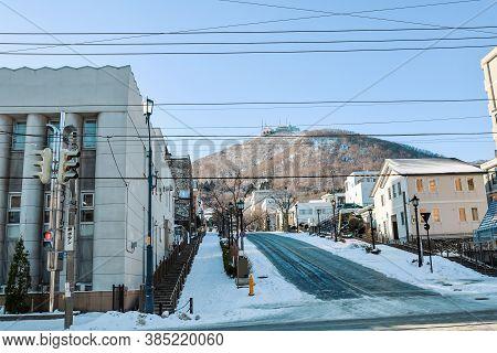 Hakodate, Hokkaido - December 2019 : Cityscape Landmark Of Hakodate, Japan Cityscape At The Historic