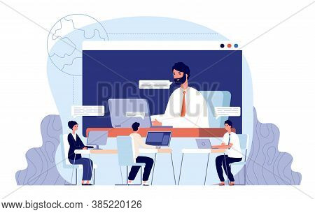Business Chat Interview. Video Internet Call, Virtual Business Conference Connection. Candidate, Emp