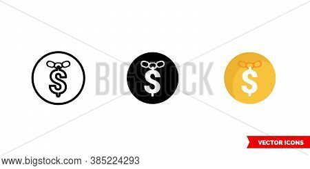 Rap Hiphop Music Genre Icon Of 3 Types Color, Black And White, Outline. Isolated Vector Sign Symbol.