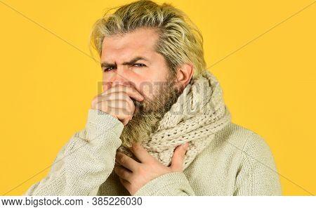 Immune Response More Than Just Symptom Of Illness. Hipster Fever. Cold Flu Fever Concept. Body Tempe