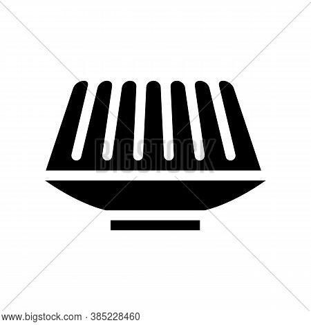 Agar-agar Meal Glyph Icon Vector Symbol Illustration