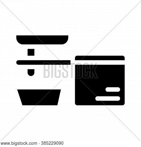 Cold Pressed Oil Press Machine Glyph Icon Vector Illustration