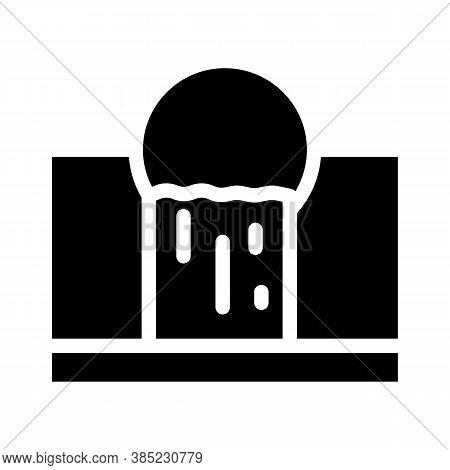 Waste Emissions Glyph Icon Vector Symbol Illustration