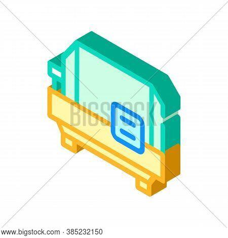 Spin Centrifuge Isometric Icon Vector Symbol Illustration