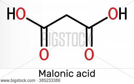 Malonic Acid, Dicarboxylic, Propanedioic Acid Molecule. The Ionized Form Its Ester And Salt, Are Kno