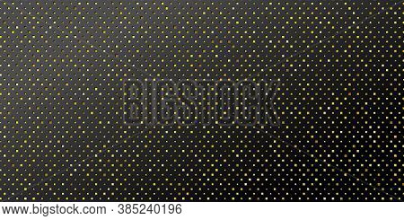 Black Background With Embossing And Glitter. Backdrop For Festive Design. Vector Eps10