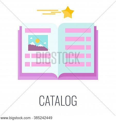 Advertising Catalog Icon. Printed Corporate And Advertising Publications. Information For Potential