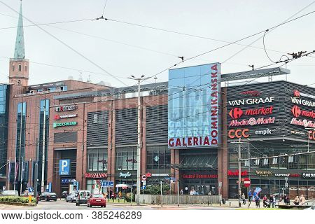 Wroclaw, Poland - May 11, 2018: Galeria Dominikanska Shopping Mall In Wroclaw, Poland. It Is One Of