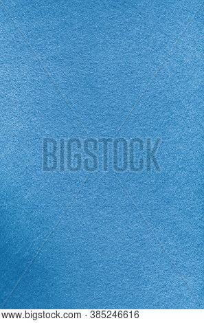Blue Abstract Background. Felt Textile Texture. Soft Fleecy Rough Fabric Surface.