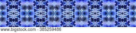 Aztec Rugs. Seamless Tie Dye Illustration. Ikat Indonesian Motif. Abstract Kaleidoscope Print. Indig