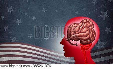 American Conservative Voter And Usa Elections Strategy Or Political Right As A Symbol For Conservati
