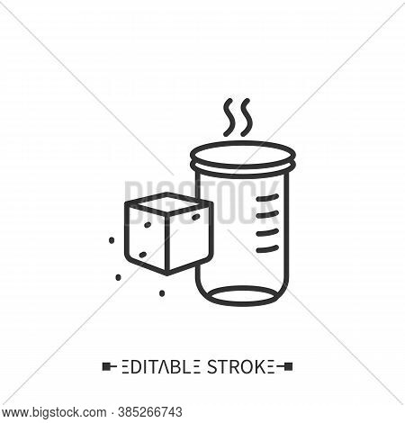 Sugar Alcohols Line Icon. Sugar Carbohydrate. Nutrient Supplements. Nutrition Facts. Healthy, Balanc