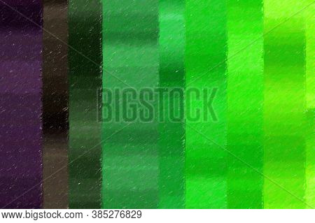 Green And Purple Lines Color Pencil High Coverage Abstract Paint Background.