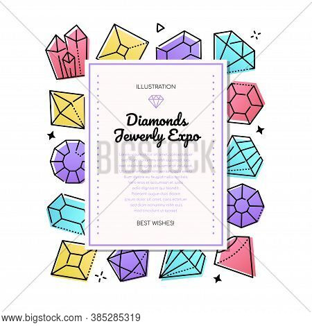 Diamonds Jewelry Expo - Line Design Style Banner