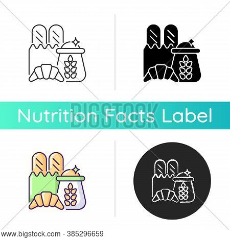 Carbohydrate Icon. Wheat Ingredient In Foodstuff. Nutritious Load. Food Group For Dietary Balance. C